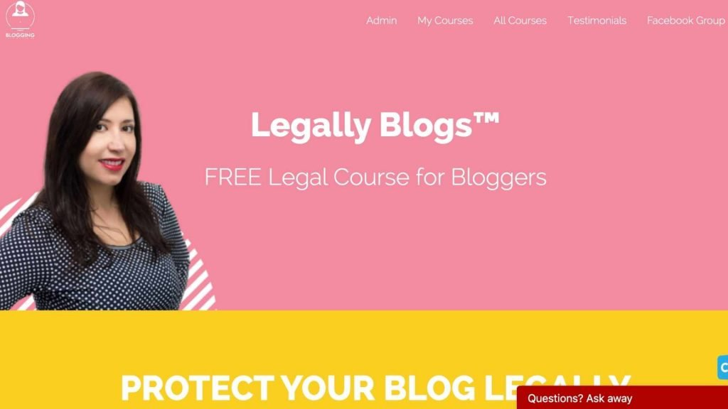 Free Legal Course for bloggers Legally Blogs by Blogging for New BloggersFree Legal Course for bloggers Legally Blogs by Blogging for New Bloggers