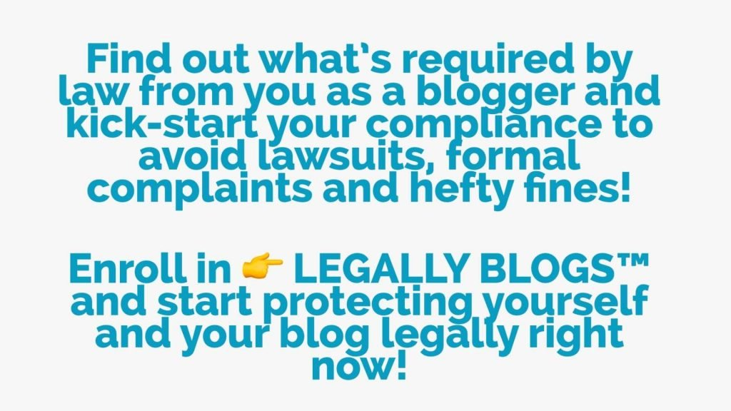 Free Legal Course for bloggers Legally Blogs by Blogging for New Bloggers overview
