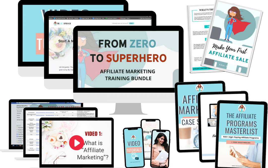 Affiliate Marketing Training Bundle by TheSheApproach