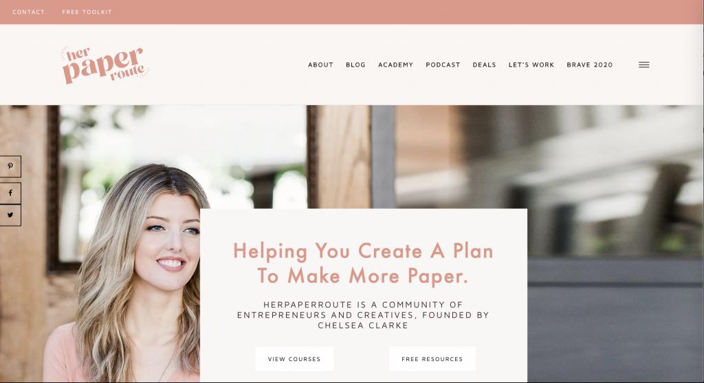 HerPaperRoute Homepage