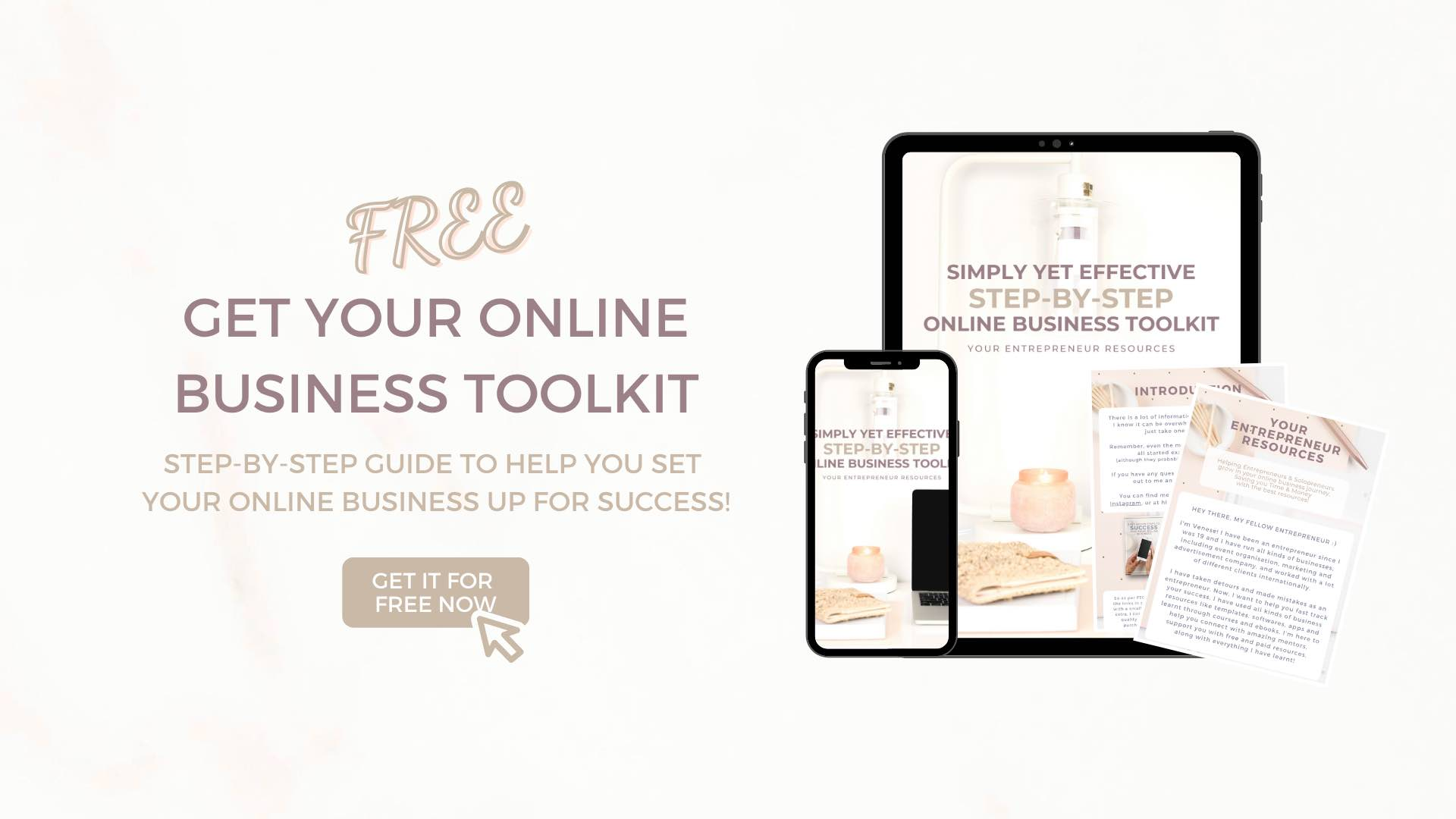 Online Business Toolkit horizontal banner