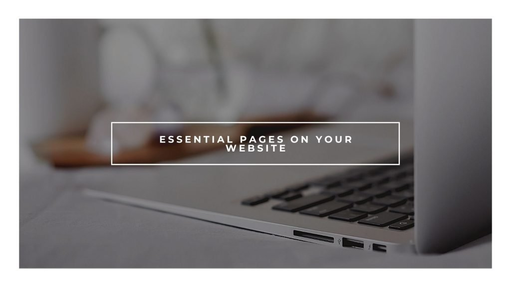 Add your core pages on your website