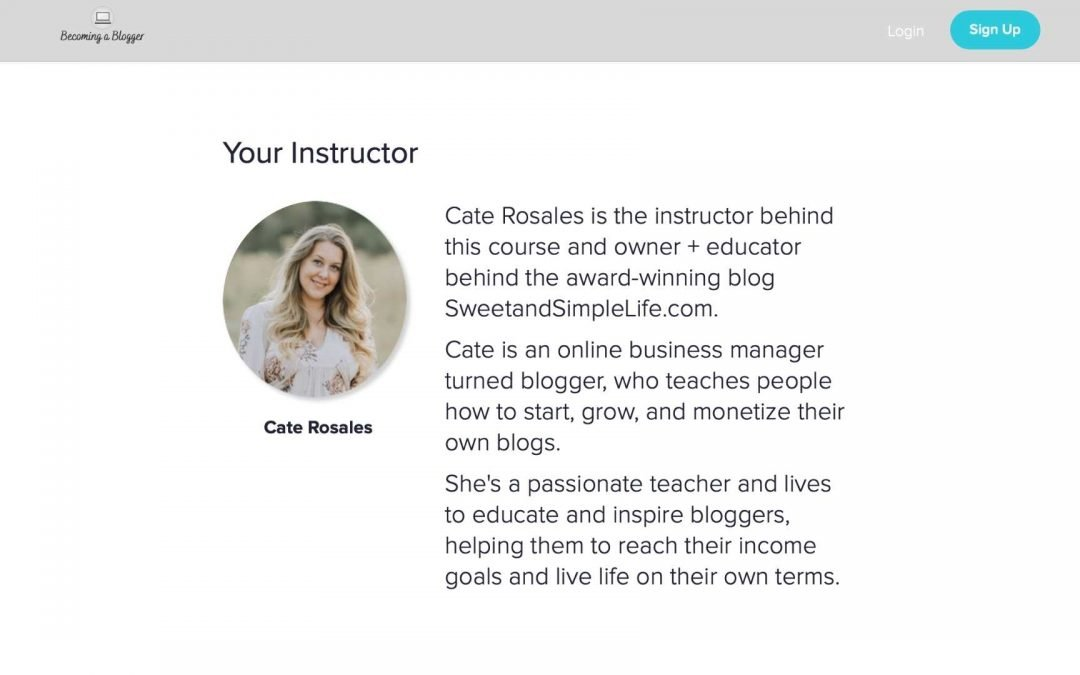 Cate Rosales from Sweet and Simple Life