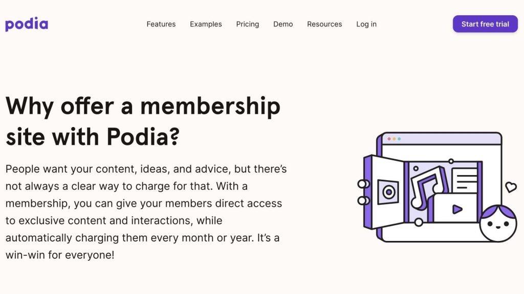 Podia Membership sites