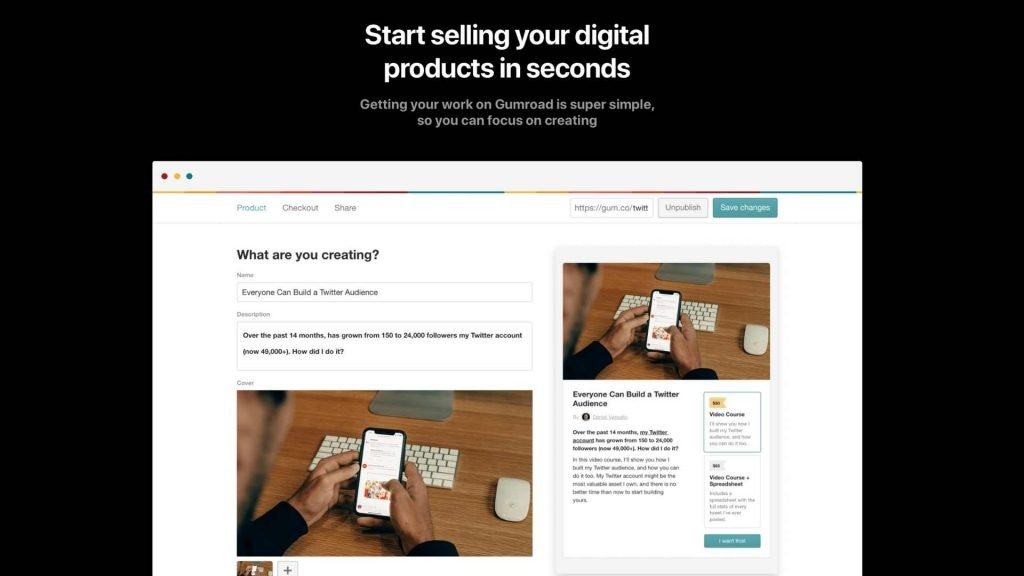 Choosing an eCommerce platform to sell your digital products or physical products can be such a pain. There are countless options for you and with all the different features to consider, it can be tough to figure out exactly which to use. Don't worry, we are here to give you an honest and easy-to-digest review. In this Gumroad review, check out what is Gumroad, the features, pros and cons and pricing, to help you figure out if Gumroad is right for you.