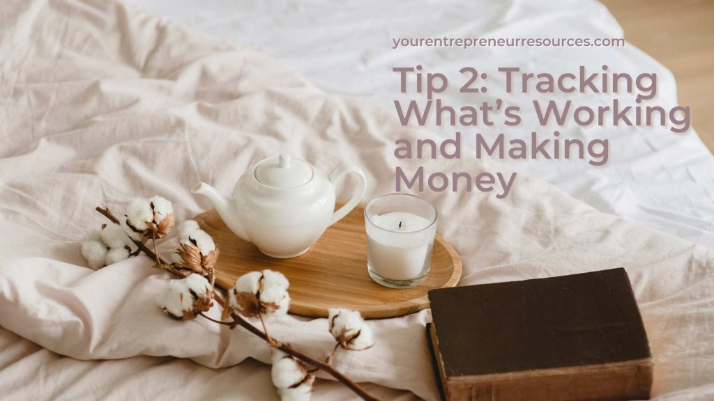 Tip 2 Tracking What's Working and Making Money
