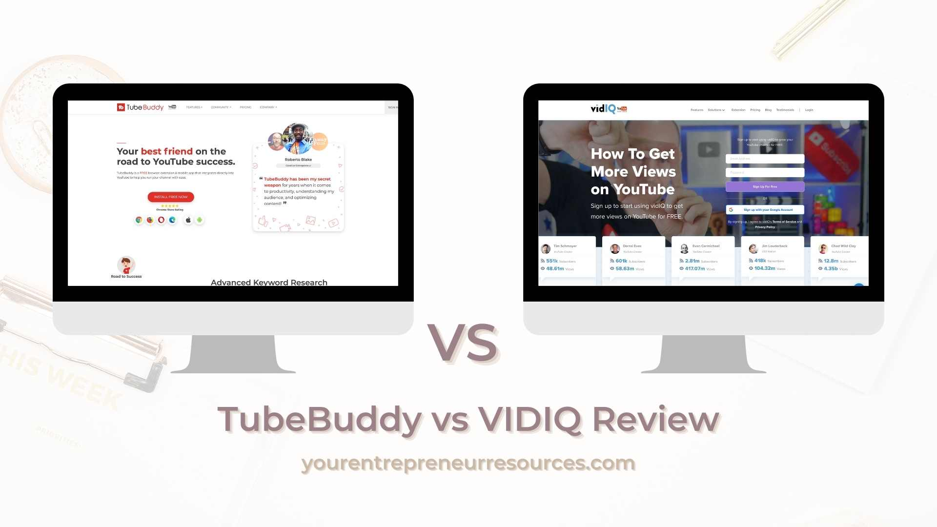 TubeBuddy vs VIDIQ Review Which Tool is Best for Expanding your YouTube Reach?