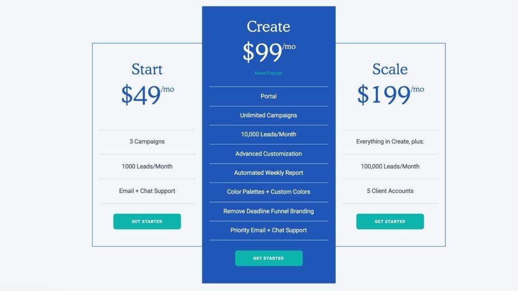 Deadline Funnel Countdown Timer Evergreen website pricing