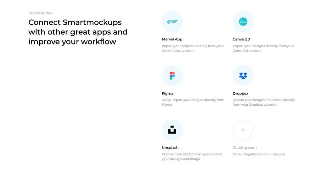 Smart Mockups integrations