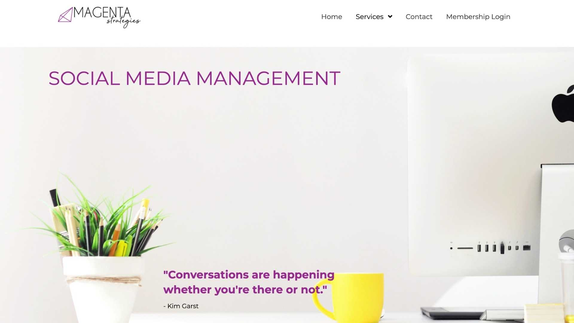 Social Media Management by Lindsey White from Magenta Strategies