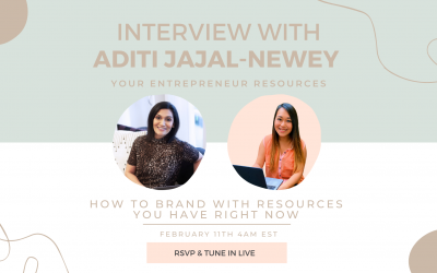 How to Brand with Resources you have right now with Aditi Jajal-Newey