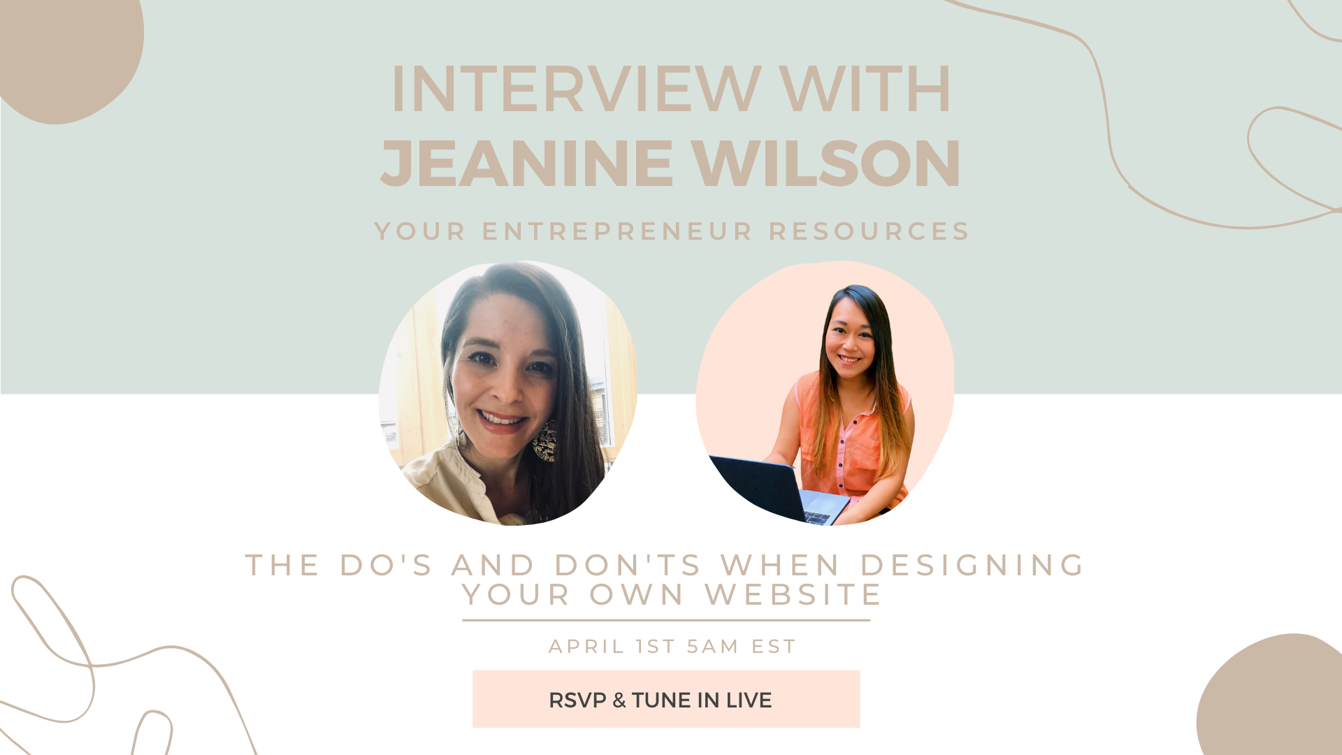 The do's and don'ts when designing your own website with Jeanine Wilson