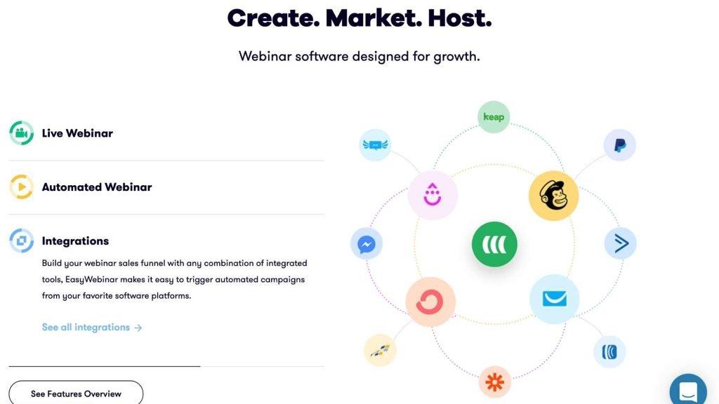 EasyWebinar create webinars