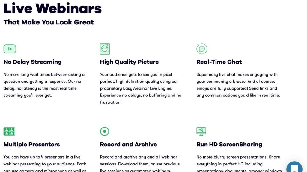 EasyWebinar review features