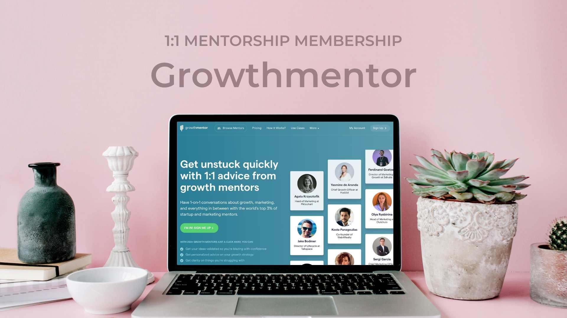 GrowthMentor Get unlimited 1 on 1 Mentorship from Startup & Marketing Mentors