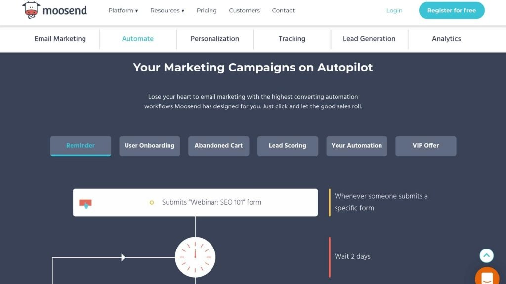 Moosend marketing campaigns