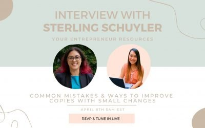 Common Mistakes & Ways to Improve Copies with Small Changes with Sterling Schuyler