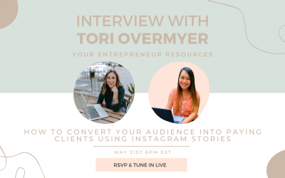 How to convert your audience into paying clients using Instagram stories with Tori Overmyer